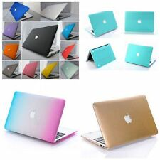 """11 Color Rubberized Hard Case Cover For Macbook Pro 13""""&15"""" Laptop Shell Cut-OUT"""