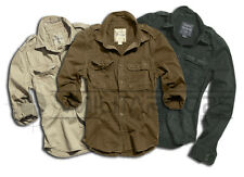 SURPLUS RAW VINTAGE MILITARY ARMY STYLE LONG SLEEVE SHIRT SUMMER COTTON WORK