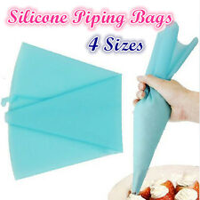 4 Sizes Reusable Silicone Pastry Bag Icing Piping Bags Cream Cake Bake Decorate
