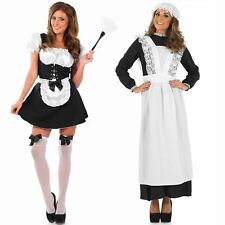 Ladies Maid Fancy Dress Costume - Womens Sexy French / Long Victorian Outfit