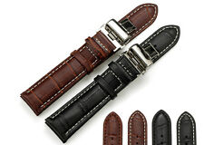 Soft Genuine Leather Watch Band Strap 14/16/18/19/20/21/22/24mm For Swiss Army