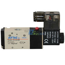 """3way 2 position Solenoid Valve Air BSP 1/4"""" DC/AC Inner Guide Pneumatic Electric"""
