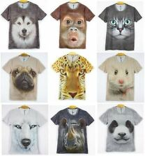 Fashion Women Men's Basic Tee 3D Solid Animals Printing Tops Casual T-shirt NEW