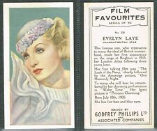 Phillips - Film Favourites 1934 #1 to #50 UK Movie Cards (from £0.99 each)