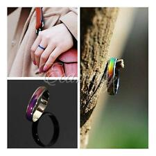 Amazingly Fashion Colour Changing Mood Rings Stainless Steel Magic Rings