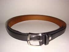 NEW BIG TALL MEN  BLACK  LEATHER BELT 1 INCH WIDE SIZE 54-56 58-60 62-64