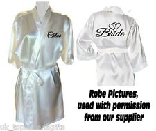 PERSONALISED SATIN WEDDING ROBE / DRESSING GOWN - BRIDE BRIDAL PARTY