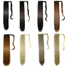 "21"" Clip In Ponytail Pony Tail Hair Extension Wrap On Hair Piece Straight Style"