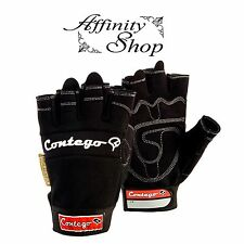 3x Contego Fingerless Gloves Any Size Mechanic Style Glove Hand Protection NEW!