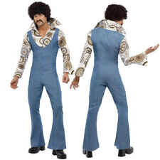 Mens 1970s Fancy Dress - 70s Groovy Disco Dancer Costume PLUS Black Afro Wig