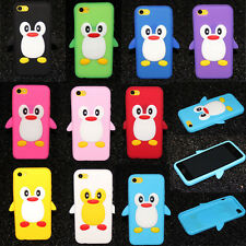 New Cute Cartoon 3D Penguin Silicone Soft Skin Case Cover For Apple iPhone 5C