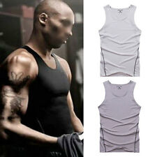 New Mens Compression Sleeveless Tank Tights Elastic Tops Sim Shirts Sports Vest
