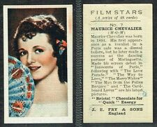 Fry & Sons - Film Stars 1934 #1 to #48 UK Movie Star Trade Cards