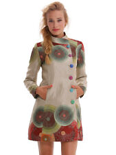 WOMAN COAT DESIGUAL ABRIG_COLORFUL CIRCLES 42E2977 JACKET NEW COLLECTION 2014