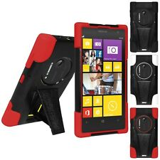 AMZER DOUBLE LAYER RUGGED HYBRID CASE COVER WITH KICKSTAND FOR NOKIA LUMIA 1020