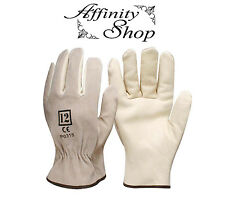 1 Pair Swaggy Rigger Gloves Cow Leather Work Glove Any Size Safety Hand Protect