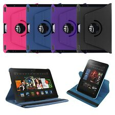 360 Rotating Leather Case Skin Cover for Amazon Kindle Fire HDX 8.9 + Screen+Pen