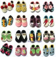 New Soft Sole Leather Baby Infant Toddler Boys Girls Shoes Prewalker Size 0,1,2