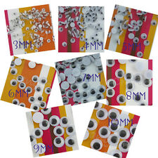 1000pcs Joggle Movable Google Wiggle Eyes 3mm 4mm 5mm 6mm 7mm 8mm 9mm 10mm