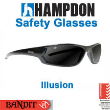 Safety Glasses - Illusion  – Black or Brown with Smoke Lens - 827SB