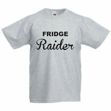 FRIDGE RAIDER - Food / Humorous / Fun / Novelty Children's Themed T-Shirt