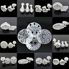 Fondant Cake Cookies Decorating Crafts Plunger Cutter Baking Tools DIY Mould #F