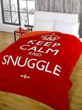 Mink Faux Fur Throw Fleece Blanket - Throws Keep Calm Multiple Sizes Red