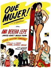 4998.Que Mujer.woman with surfboard.Ana Bertha Lepe.POSTER.decor Home Office art