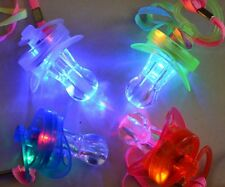 LED FLASHING LIGHT UP PACIFIER WHISTLE LANYARD RAVE EDC PARTY FAVORS DANCE GLOW