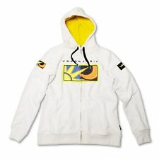 ROSSI VR46 LADIES WHITE ZIP FLEECE OFFICIALLY LICENSED + FREE GIFT WORTH £14.99