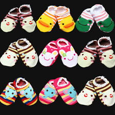 Lot Baby Kid Toddler Girl Boy Anti-Slip Socks Sox Shoes Slipper 6-24 Months New