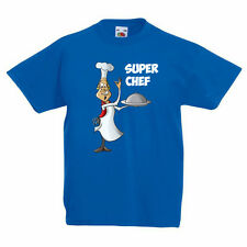 SUPER CHEF - Cook / Cooking / Food / Novelty / Fun Children's Themed T-Shirt