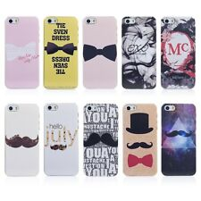 Painted Various Mustache Pattern Hard Back Skin Case Cover for Apple IPhone 5 5S