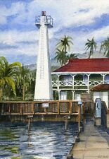 Lahaina Lighthouse Maui Hawaii Watercolor Notecards