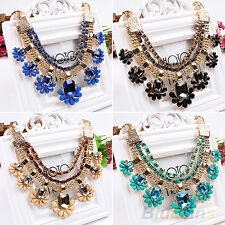 Gorgeous Womens Crystal Choker Statement Collar Chain Necklace Party Jewelry New