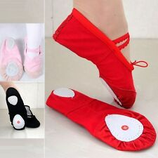 New Hot Cute Canvas Ballet Dance Fitness Shoes Toddler Girls Child 3 Colors 14*