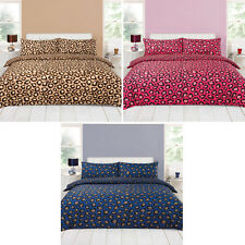 Leopard Duvet Cover with Pillow Case Bedding Set Single Double King All Size