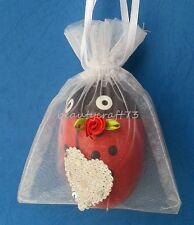 "9x12cm ORGANZA FAVOUR GIFT BAGS WITH HEART 4.5""x3.5"" Wedding Jewellery Pouches"