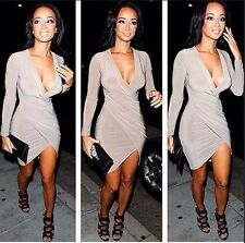 Sexy Women Long Sleeve Slim Fashion Bodycon Party Cocktail Evening Mini Dress