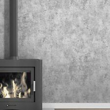 Exclusive High Quality 'Aggregate' Concrete Effect Wallpaper in Grey & White