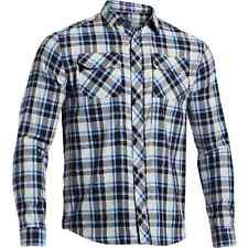 Under Armour Heatgear Tactical SOAS Covert L/S Aluminum Blue Plaid Shirt 1236383