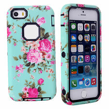 ❤Hot Sale❤Vintage 3 in 1 Floral Style Phone Back Cover Case For Apple iPhone 5C