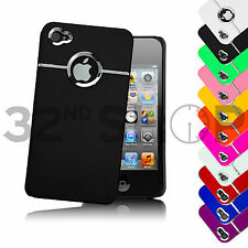 NEW CHROME HARD CASE COVER SKIN FOR IPHONE 4 4S FREE SCREEN PROTECTOR