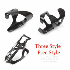 Lagute - Carbon Fibre Water Drinks Bottle Cages Holder Bracket Bike Bicycle Rack
