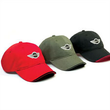 MINI Cooper Black, Red or Olive Recycled Unstructured Logo Cap Hat New