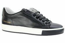 Roberto Cavalli Men's Shoes Casual Leather Fashion Sneakers 02881 S-Calf Nero