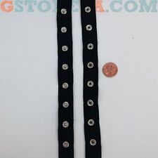 """Black Snap Tape Buttons 3/4"""" Inch, Choose Length *Closeout Prices* 004"""