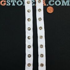 """White Snap Tape Buttons 3/4"""" Inch, Heavy Duty Choose Length *Closeout Price* 005"""