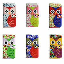 Cute Cartoon Owl Stand Wallet Flip Leather Case Cover For Various Cell Phone Bag