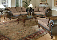 Acme 50335 Fairfax Chocolate Raisin Sofa Loveseat Formal Living Room Set 2Pc Set